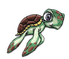 Sea Turtle -  Green Sea Turtle - Children's Embroidered Iron On Applique Patch #Unbranded
