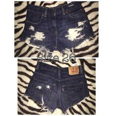 Levi distressed jeans Dark blue distressed Levi jeans. Levi's Shorts Jean Shorts