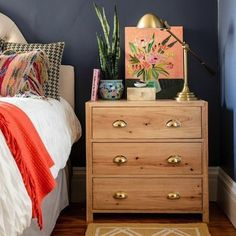 15 Bedside Table #Shelfies to Copy for Yourself Brit + Co