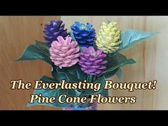 Pine Cone Flowers Craft Watch The Video | The WHOot