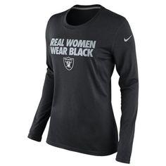 Nike Oakland Raiders Ladies Real Women Wear Black Local Long Sleeve T-Shirt  - Black c3fc1be4592a