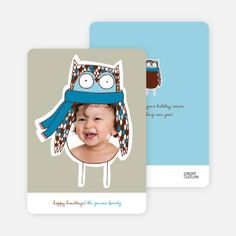 Ogling Owl Holiday Photo Cards by Paper Culture Holiday Photo Cards, Holiday Photos, Paper Culture, Big Eyes, First Love, Owl, Seasons, Happy, Prints