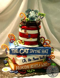 Dr. Suess baby shower ideas | Our friend www.ksbird.blogspot.com Birthday Cake: