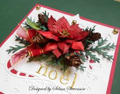 Selma's Stamping Corner and Floral Designs: Christmas Poinsettia and Pine Cone Tutorial