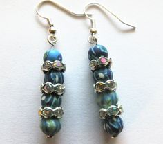 Shades of Blue Hint of Green A Pair of by BlingItOutLoudCharms