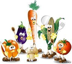 """Scarica il vettoriale Royalty Free  """"Verdure Miste Cartoon-Humorous Mixed Vegetables-Vector"""" creato da BluedarkArt al miglior prezzo su Fotolia . Sfoglia la nostra banca di immagini online per trovare il vettoriale perfetto per i tuoi progetti di marketing a prezzi imbattibili!"""