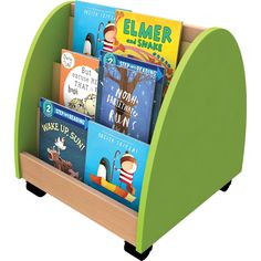 NEW for this useful mobile unit with face-out display makes it easy for small children to choose a picture book. Mobile Storage, Childcare, Storage Solutions, Toy Chest, Storage Chest, The Unit, Lol, Hacks, Display