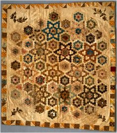 Hexagon Quilt by Mary Hopkins, 1825