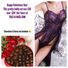 Great Valentines Day gifts at            TOES-N-HOSE.COM  This Hot Teddy Set & Many More Was $39 NOW $29 Take an Extra 20%Off with cupid20 Every order, everyday, elegantly packaged and gift ready FREE!  Ship directly to your Valentine!  #toesnhose #lingerie #hosiery #sexy #teddy #intimate apparel  #nice #bespoke