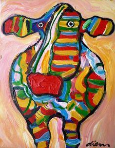Cow in sunrise, by Peter Diem