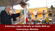 30 de octubre de 2014, audio de la entrevista, vía telefónica, que concedió #AMLO, presidente del Consejo Nacional de #MORENA, a Radio #MVS de Cuernavaca, Moleros.