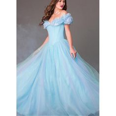 Amazing Tulle Organza Ball Gown Prom Dress With Butterflies... ($259,981) ❤ liked on Polyvore featuring dresses, gowns, prom gowns, blue evening gown, blue dress, evening gowns e prom dresses evening gowns