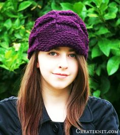 Checkered Hat Knitting Pattern