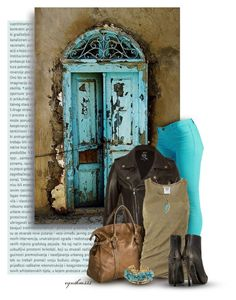 Meet Me at the Turquoise Door by cynthia335 on Polyvore featuring polyvore fashion style Michael Kors McQ by Alexander McQueen BLANKNYC Maison Margiela PRIVATE SUITE Jennifer Meyer Jewelry