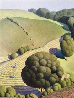 """Grant Wood @ musée de l'Orangerie : """"La peinture américaine des années 1930"""""""