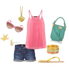 pink sunshine, created by molly-angle on Polyvore