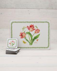 "Pimpernel for Portmeirion ""Botanic Garden"" 10pc Placemat & Coaster Set"