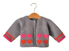 Tricot: Gilet atout cœur Knit: Cardigan trump card - Tricot - All the details of realization July 11 Baby Knitting Patterns, Baby Girl Patterns, Baby Boy Knitting, Knitting For Kids, Sweater Patterns, Knitting Ideas, Free Knitting, Crochet Patterns, Crochet Jacket