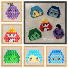 Tsum Tsum Inside Out perler beads by ganmo2004