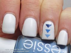 Ten Colorful Nails: Ombre triangle nail art