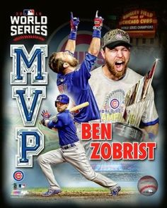 Ben Zobrist Chicago Cubs 2016 World Series MVP Photo (select Size) for sale online Chicago Cubs Fans, Chicago Cubs World Series, Chicago Cubs Baseball, Tigers Baseball, Baseball Teams, Royals Baseball, Sports Teams, Baseball Cards, Baseball Field