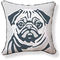 NAKED DECOR Pug Pillow ($33) ❤ liked on Polyvore featuring home, home decor, throw pillows, modern home decor, pug home decor, modern home accessories, naked decor и pug throw pillow