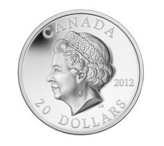 Canada 20 Dollars Silver Coin 2012 Diamond Jubilee of Queen Elizabeth II