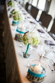 Nauture Themed Wedding Tablescape| Photo: sugarandsoulphotography.com