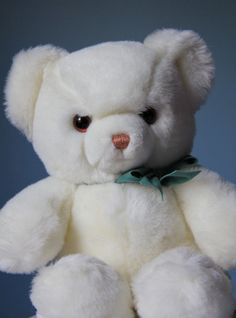 Vintage Gund White Tender Teddy Bear