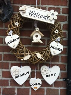 Door Name Plates, Name Plates For Home, Home Entrance Decor, Diy Home Decor, Name Plate Design, Wood Crafts, Diy Crafts, Art And Hobby, Arte Country