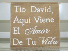 Hey, I found this really awesome Etsy listing at https://www.etsy.com/listing/220840433/tio-sign-aqui-viene-el-amor-de-tu-vida
