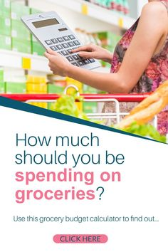 Is your grocery budget out of control? Find out how much you should budget for groceries for your family with this easy to use grocery budget calculator.Plus tips to save money on food like meal planning, how to buy the cheapest foods, using coupons and apps and more #grocerybudget #savingmoney #groceries