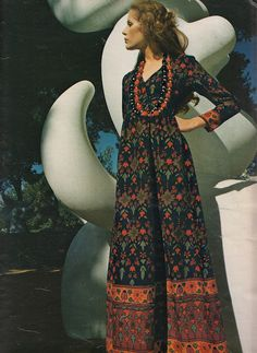 maxi from Elegance Magazine, Paris - 1971/72, photographed by Jean-Jacques Bugat