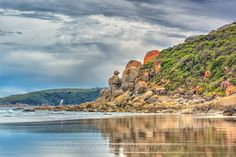 The 3 Sentinels of Whisky Bay in Wilsons Promontory, Victoria, Australia.