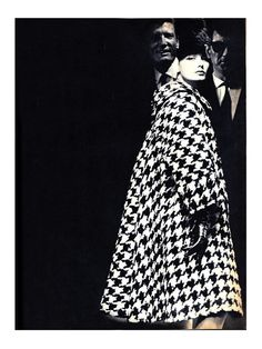 Photo by Helmut Newton, 1962 I just got a light coat with the same huge houndstooth at the bins a couple weeks ago.. <3