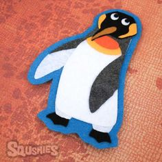 Bowtie the King Penguin - Felt Animal Applique