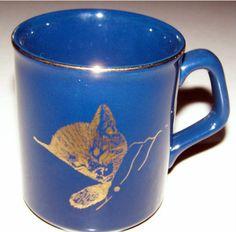 "$11.95  Chesapeake & Ohio Railroad ""CHESSIE"" CAT Ceramic Mug  BID NOW!"