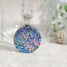 Hey, I found this really awesome Etsy listing at https://www.etsy.com/listing/171663363/small-dichroic-glass-pendant-fused-glass