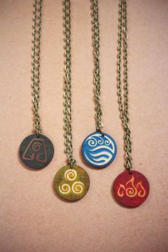 Lasercut Avatar Element Necklaces /// Avatar: by TheCampbellCraft