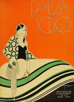 Para Todos… IX.469, 10 Dezembro 1927 Art And Illustration, Illustrations, Art Deco Posters, Vintage Posters, Vintage Art, App Design, Journal Vintage, Fantasy Magic, Estilo Art Deco