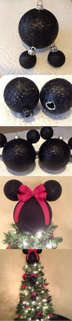DIY Disney Ornaments and Christmas Tree Topper                                                                                                                                                                                 More
