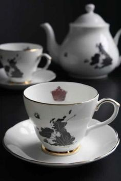 Ali Miller UK  Ireland Map - Home Sweet Home Teacup and Saucer as seen on Sherlock