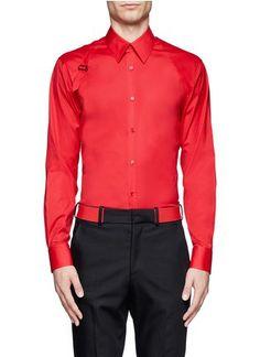 ALEXANDER MCQUEEN - Harness cotton shirt | Red Casual Shirts Shirts | Menswear | Lane Crawford - Shop Designer Brands Online