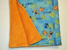 Finding Nemo Baby Toddler Security Blanket Minky by AuntBsBonnets, $18.00