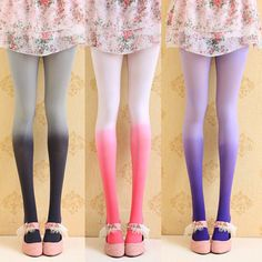 "Japanese sweet gradient color pantyhose, Use this coupon code ""Edin"" to get all 10% off!"