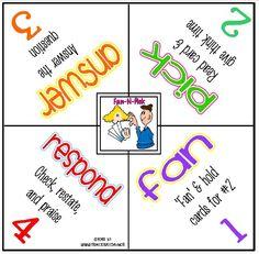 Kagan Fan 'n Pick strategy Cooperative Learning Strategies, Teaching Strategies, Teaching Resources, Teaching Ideas, Siop Strategies, Instructional Coaching, Instructional Strategies, School Classroom, Classroom Ideas
