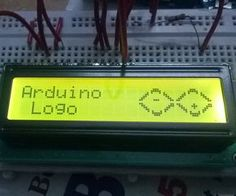 Arduino LOGO on LCD using createChar function of LiquidCrystal Library. Arduino Programming, Arduino Projects, Circuit Board, Smart Home, Columns, Projects To Try, Character Design, Coding
