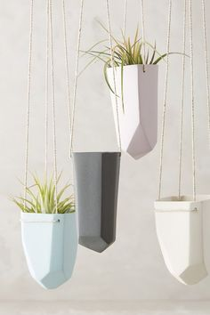 Crystal-Cut Hanging Planter - anthropologie.com