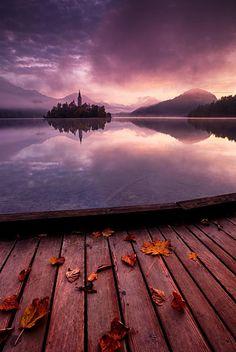 Lake Bled, Julian Alps, Slovenia,
