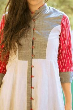 Kurthis by etta Salwar Designs, Kurta Designs Women, Dress Neck Designs, Blouse Designs, Indian Attire, Indian Wear, Indian Dresses, Indian Outfits, Kurta Patterns